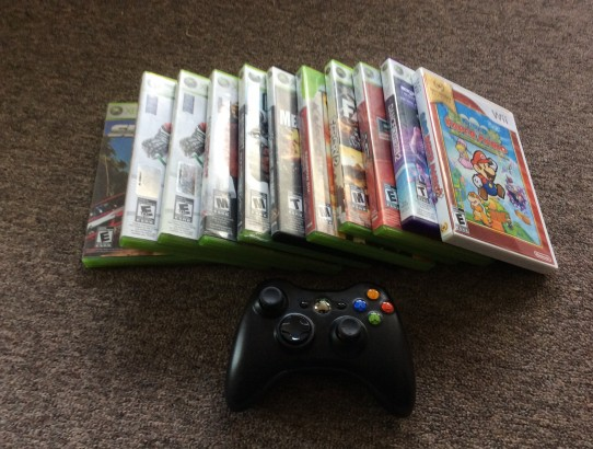 large lot of video games