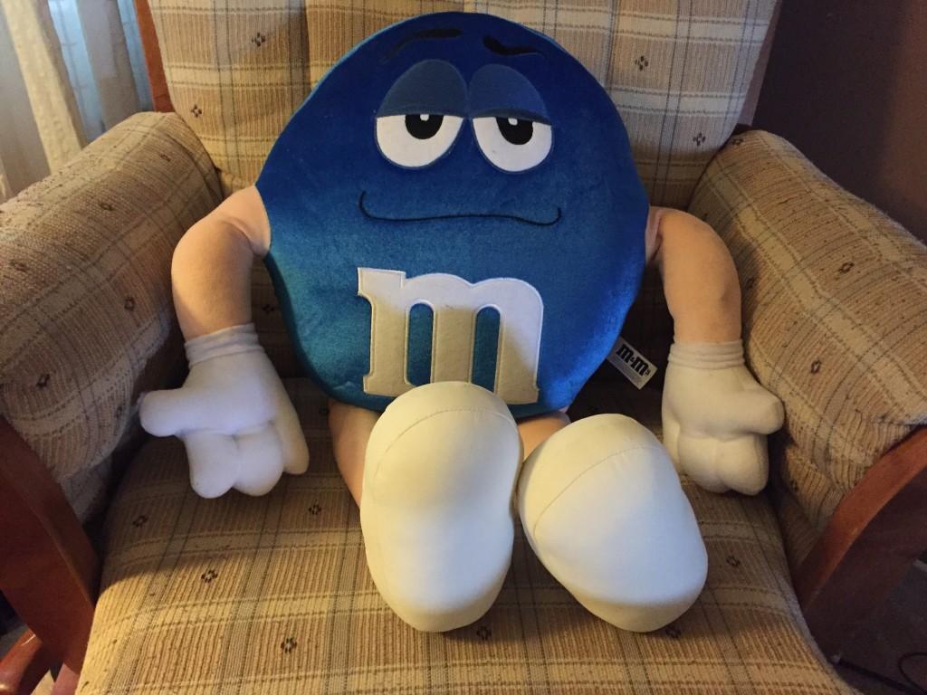 stuffed plush m&m