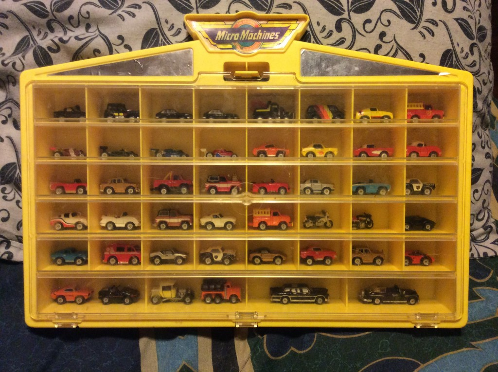 vintage micro machines and case